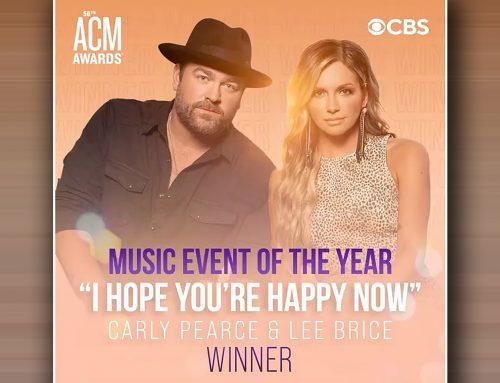 Lee Brice & Carly Pearce  – ACM Award WINNERS!